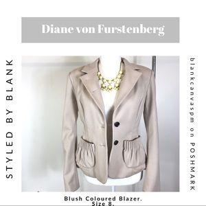 Diane von Furstenberg Blazer with Ruched Pockets